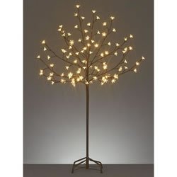 Small Image of Premier Decorations 1.2m Cherry Tree with 100 Warm White LEDs (LV141267WW)