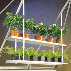 Small Image of One Pair Hanging Shelves To Fit To Greenhouse Roof - 86cm x 25cm