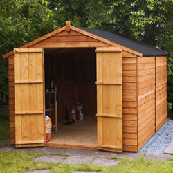Small Image of 10 x 8 Windowless Overlap Apex Wooden Garden Shed