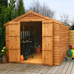 Small Image of 12 x 8 Windowless Overlap Apex Wooden Garden Shed