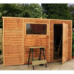 Small Image of 10 x 6 Overlap Single Door Pent  Wooden Garden Shed