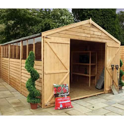 Small Image of 15 x 10 Overlap Double Door Apex Wooden Garden Shed