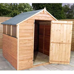 Small Image of 6 x 6 Budget Wooden Overlap Apex Garden Shed
