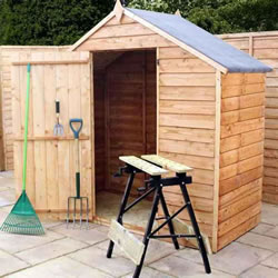 Small Image of 6 x 3 Windowless Budget Wooden Overlap Apex Garden Shed
