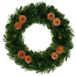 Small Image of Tree Classics 35cm Green Mixed Pine Wreath (714-75-488)