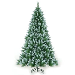 Small Image of Tree Classics 2.1m (7ft) Green Frosted Allison Spruce Artificial Christmas Tree (84-754-421F)