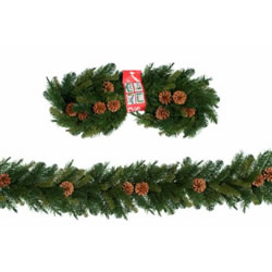 Small Image of Tree Classics 2.7m x 25cm Green Mixed Pine Garland (910-240-488)