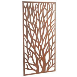 Small Image of Rustic Steel Garden Metal Tree Screen 1.8m Tall