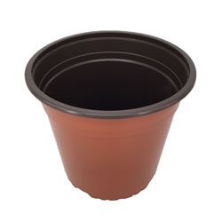 Extra image of Nutley's Round Modiform 22cm Terracotta Plastic Plant Pots (Pack of 50)