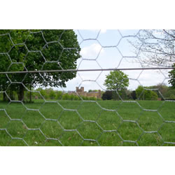 Small Image of 50m roll of 1.2m (4ft) tall galvanised chichen wire mesh