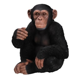 Small Image of Vivid Arts Real Life Sitting Chimpanzee XRL-CHM3-D