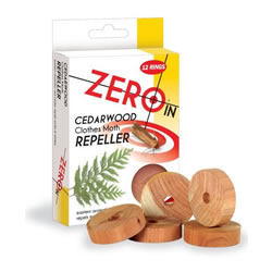 Small Image of STV Pest Control - Cedarwood Clothes Moth Repeller 12 Rings (ZER035)