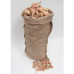 Small Image of 5 Hessian Sack Potato, Onion, Vegetable Storage Bags 30cm x 60cm