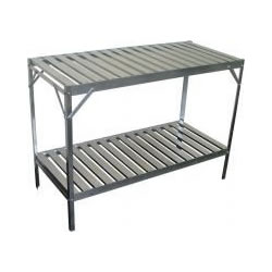Small Image of Simplicity Aluminium slatted 2 Tier 20in wide 47in long