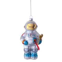 Small Image of Buzz the Astronaut Novelty Glass Christmas Tree Bauble Decoration