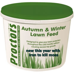Small Image of New 5kg tub of New Proctors Autumn and Winter lawn feed with iron to kill moss
