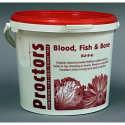 Small Image of 5kg tub of Proctors Blood Fish and Bone 100% Organic general garden fertiliser
