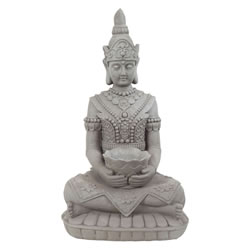 Small Image of Large 66cm Stone Look Fibreclay Guan Yin Buddha Statue Garden Sculpture Ornament