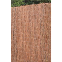 Small Image of 1m tall x 3m long brushwood screening fence - for gardens, balconies, screen