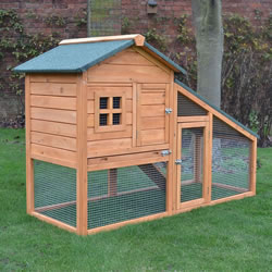 Small Image of Bunny Ark Natural Rabbit Hutch and Run