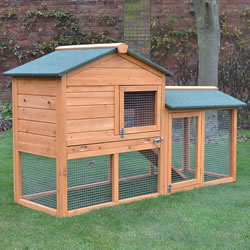 Bunny House Natural Rabbit Hutch and Run