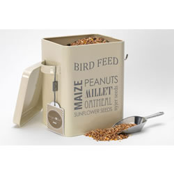Small Image of Burgon & Ball Bird Feed Tin + Aluminium Scoop: Keep Nuts & Seeds Dry, Cream