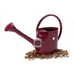 Small Image of Burgon & Ball 5-litre Metal Watering Can Outdoor Slim design burgundy red