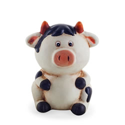 Small Image of Terracotta Sitting Cow Money Box