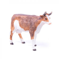 Small Image of Farm Animal Resin Garden Ornament - Cow