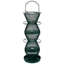 Small Image of No/No Forest Green Five Tier Wild Bird Feeder with Tray