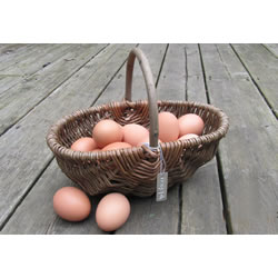 Small Image of Beautiful Hand-Made Rustic Willow Garden Trug Basket wicker, small