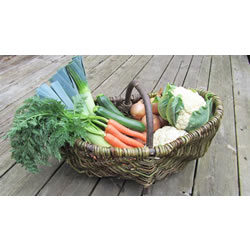 Small Image of Beautiful Hand-Made Rustic Willow Garden Trug Basket wicker,Large