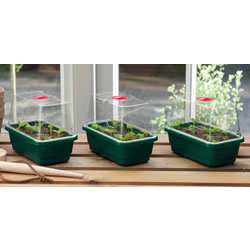 Small Image of 3 x Quality Garland Mini High-Dome Seed Propagators + Clear Vented Lid