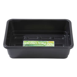Small Image of Garland Standard Half-Size Seed Tray: Black, With holes