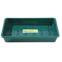 Small Image of 3 Garland Standard Half-Size Seed Trays: Green - Without Holes