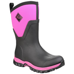 Small Image of Muck Boot - Arctic Sport Mid - Black/Pink