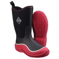Extra image of Muck Boot - Kid's Hale - Red/Black