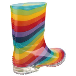 Extra image of Kids Cotswold PVC Wellies - Rainbow - UK Size 13