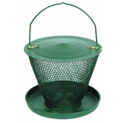 Small Image of No/No Forest Green Single Tier Wild Bird Feeder with Tray