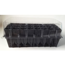 Small Image of Haxnicks Deep Rootrainers Plug Plant Propagator Set: frame books & lid