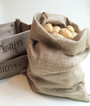 2 Hessian Potato Sack Bags storage root vegetables 50 x 80cm 8.9oz grade