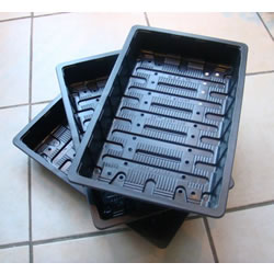 Small Image of 3x Full-Size Standard Seed Trays: recycled plastic, with drainage holes