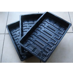 Small Image of 6x Standard Full-Size Seed Trays propagation, recycled plastic, no drainage holes