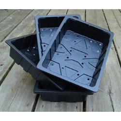 Small Image of 3 Half-Size Recycled Seed Trays for Seeds & Cuttings