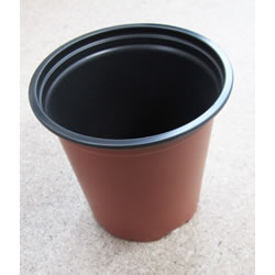 Small Image of 100x Round Modiform Plastic Plant Pots: 9cm/3.5