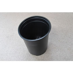 Small Image of 20 Modiform Round 1-Litre Black Plastic Plant Pots/13cm