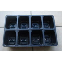 Small Image of 6x 8-Cell Seed Tray Cavity Inserts: Recycled Pastic & Extra Deep