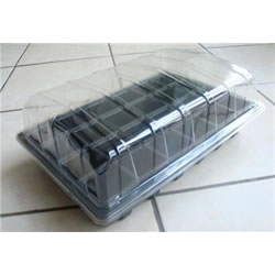 Small Image of 3x Full-Size Seed Propagator Sets: Tray, 40-Cell Insert, Lid