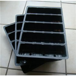 Small Image of 3x 5-Cell Seed Tray Cavity Inserts: Recycled Plastic