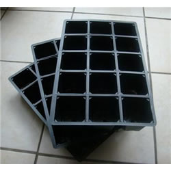 Small Image of 3x 15-Cell Seed Tray Cavity Inserts: Recycled Plastic